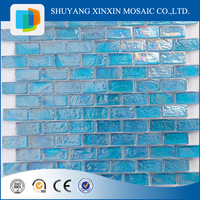 High quality blue glass tile for swimming pool tile for luxury bathroom design