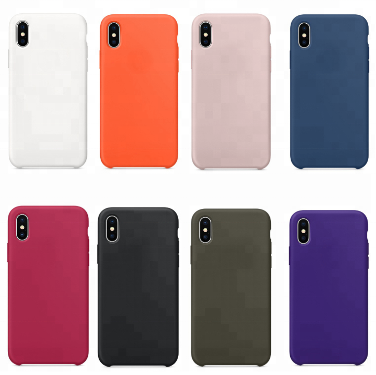 Liquid silicone case for iphone x microfiber protective cover cushion fancy fashion case for iphone X 10