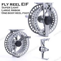 Top quality machine cut one body reel foot strong large arbor fly reel