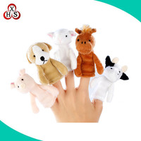 Cute Stuffed Finger Puppets Toy For Holiday Gift