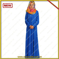 High quality blue beaded chiffon design baju melayu 2014 new style