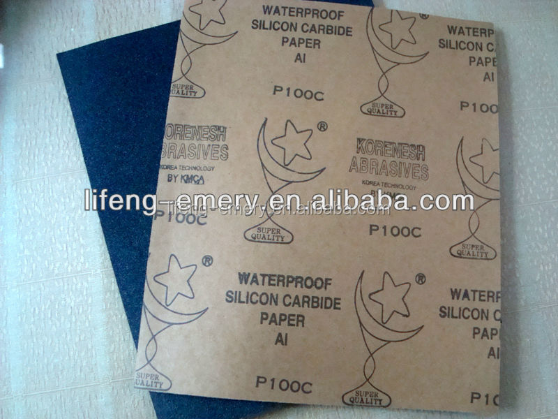 Korea waterproof abrasive paper with silicon carbide coating