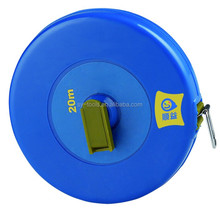 Bule and green color 50m fiberglass measuring tape