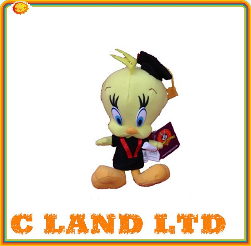 Tweety bird graduation toy graduation plush toys
