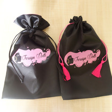 Double-Sided Large Satin Bags For Hair Extensions For 4 - 6 Bundles Hair Wholesale
