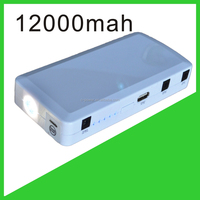 12000mah 400A peak current white emergency battery jump start kit