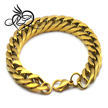 2015 New Designs Gold Jewelry Gold Plated Mens Chains Bracelets