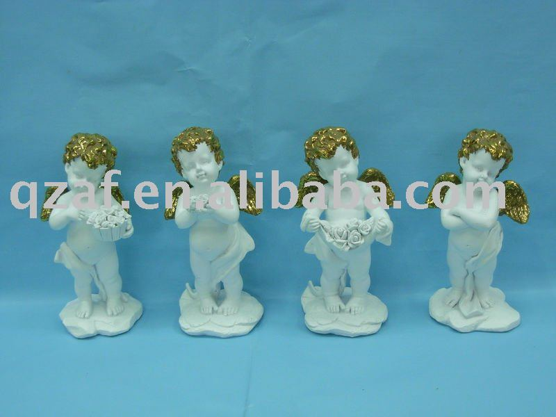 Polyresin cupid angel figurine for decoration