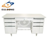 Environment metal furniture Mdf Top Metal Office Desk For Sale