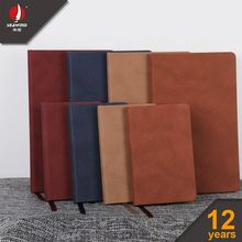 hard cover color pu elastic genuine/pu leather power bank organizer notebook