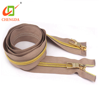 CHENGDA Marketable Products Handbag In Rolls 3# Gold Teeth Nylon Tape Zip Zipper