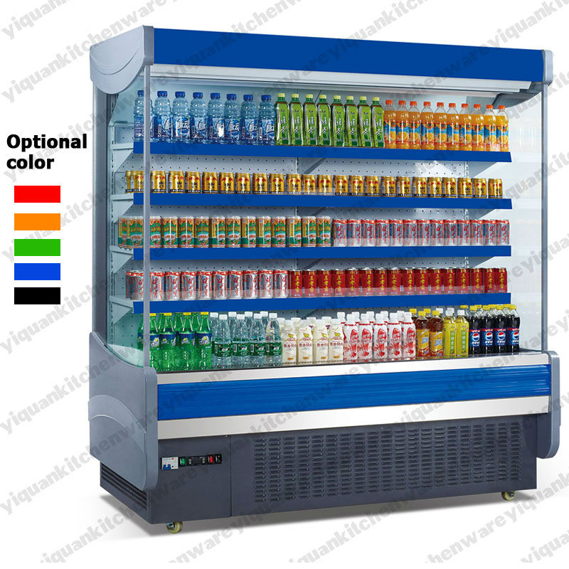 Supermarket Front Open display Refrigerator with Air Curtain