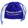 High quality velvet pouches bags navy blue for shoes pens