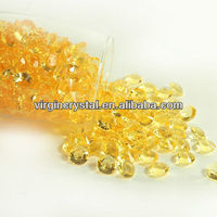 Yellow wedding shining pearl and diamonds party decorations