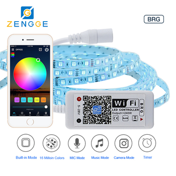 Free APP WiFi,new products 2018 hot mini wifi rgb led controller 3 channel 4a 12v/24v for 12v lights strip