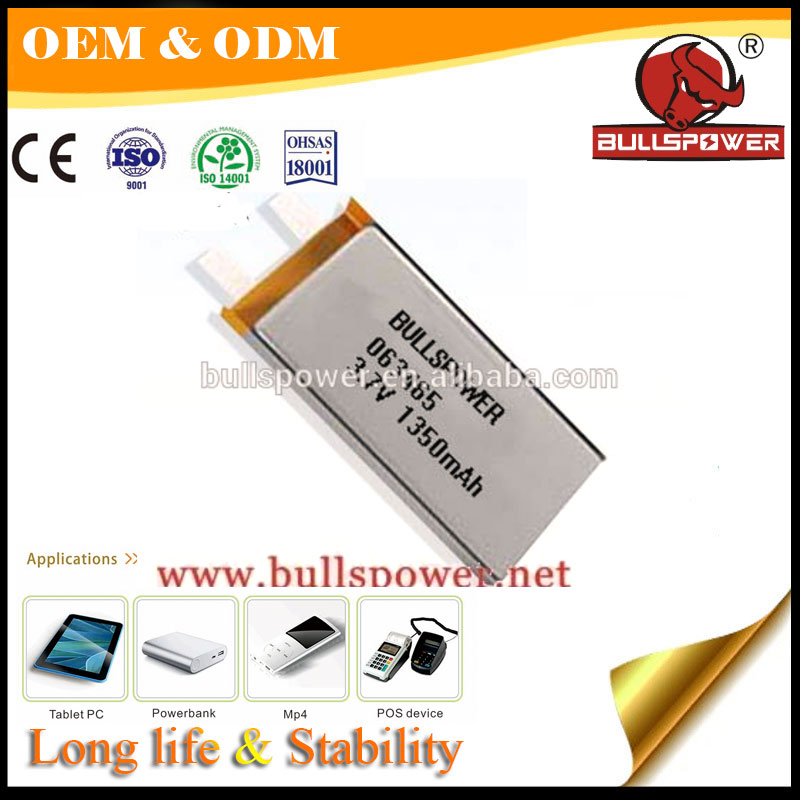 High quality 3.7v 1350mah rechargeable li-ion lithium battery for Camera pen