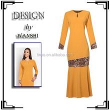 Latest fashion modern design plain baju melayue