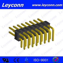 2.5mm pitch Single Layer Double Row Right Angle Pin Header connector design