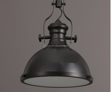 Vintage Lighting Retro and officer iron wok shade single-head Industrial pendant lamp/ chandelier/droplight made in China