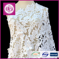 2015 new style white cotton guipure lace fabric and