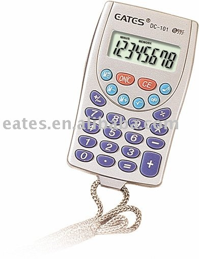 Mini Calculator with rope wire