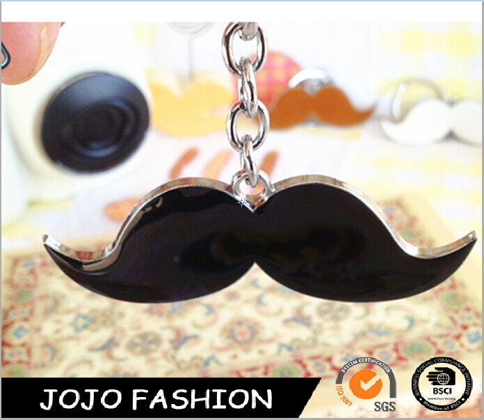 Promotional wholesale metal mustache keychain zinc alloy key chain