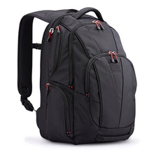 high end laptop backpack with two big compartments for men trip