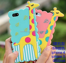 New 3D cute animal silicon case for iphone 5 giraffe silicon case for iphone 5 5 s