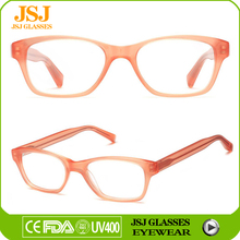Small rim transparent acetate optical frame handmade spectacle frame for girls/women eyewear glasses