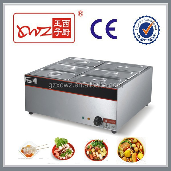 6 Pot Electric Bain Marie Cooking Equipment