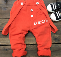 S11115A boys pants 2015 latest style fashion korean knitting overalls for kids
