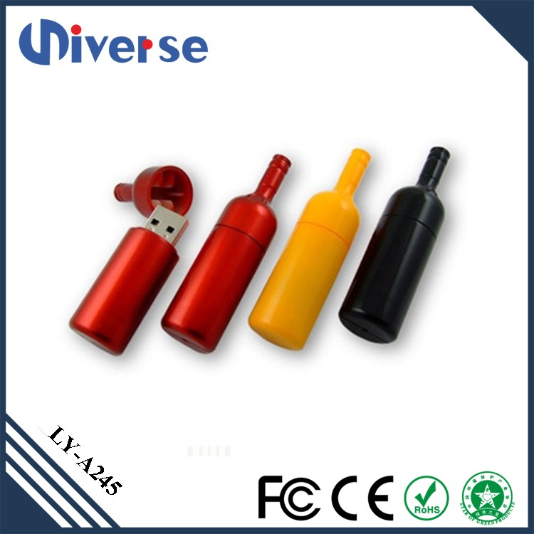 Novelty Products 8Gb Red Wine Bottle Usb Flashdisk 2.0 Usb Flash Stick With Personalized Logo