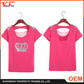 Fashion patterns Customized made size and colors breathable loose fit women custom t-shirt