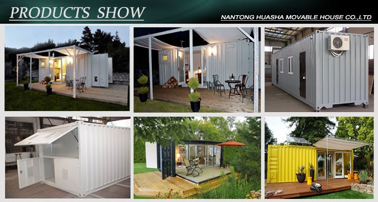 Modern and can customized prefab luxury container home for sale