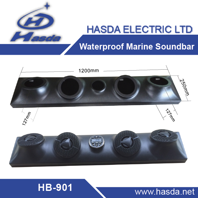 High quality marine soundbar for tv atv utv sauna room boat