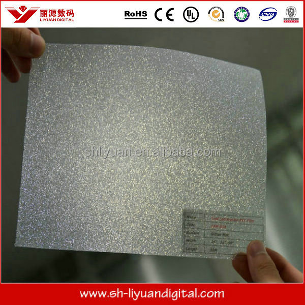 glass decorative film, laminate film glitter, window glitter film sticker