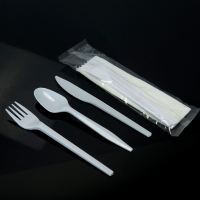 3 in 1 disposable fork/ spoon/knife with napkin