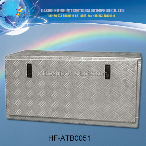 New arrival 1.5mm silver aluminum tool box for trucks and pickups