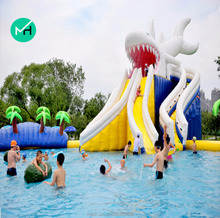 hot sale giant commerical beautiful commercial inflatable water slide clearance for sale