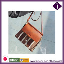 2016 New Autumn And Winter European Style Shoulder Bag Retro Ring Buckle Stitching Bag Suede And Lamb Hair Splicing Handbag