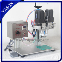 High Speed Semi-automatic Desktop Plastic Bottle Screw Capping Machine for various locking caps with different shapes