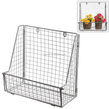 Modern Metal Wire Wall Mounted Hanging Towel Basket / Freestanding Magazine / File Organizer Rack