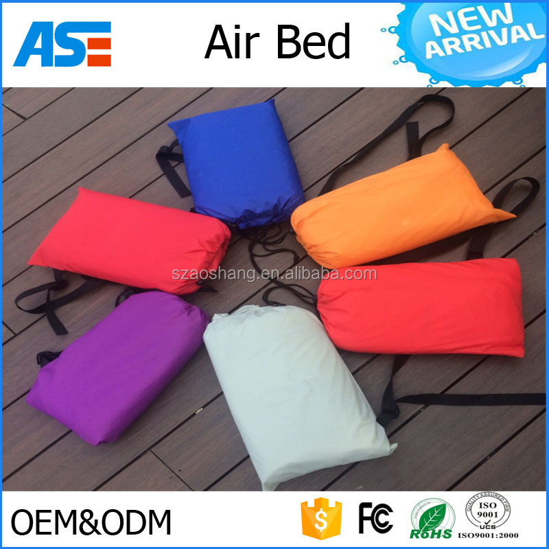 ASG factory direct selling beach camping air lounge sofa bed wind pouch nylon sleeping air bag with good price
