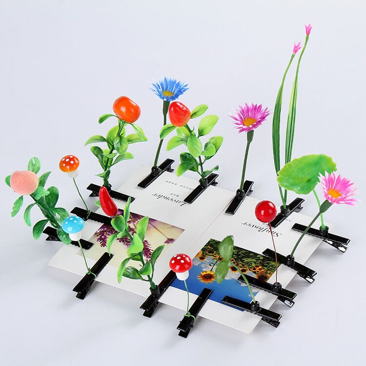 Hot sales Cute Bean Sprouts Grass Hairpin/Party Diy Hair Grass Clips/Travel Creative Grass Hair Grips
