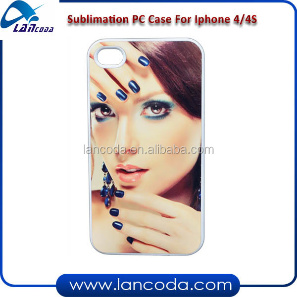 sublimation phone cases blanks for iphone4/4s cell phone cover