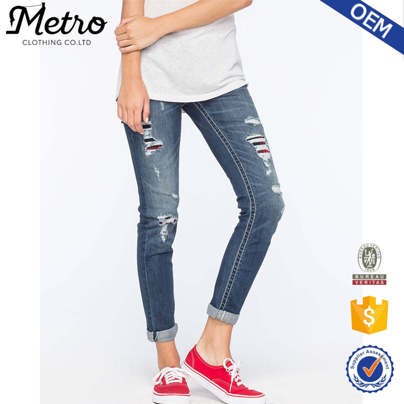 Newest Straight ladies cropped jeans,beautiful sexy women tight jeans
