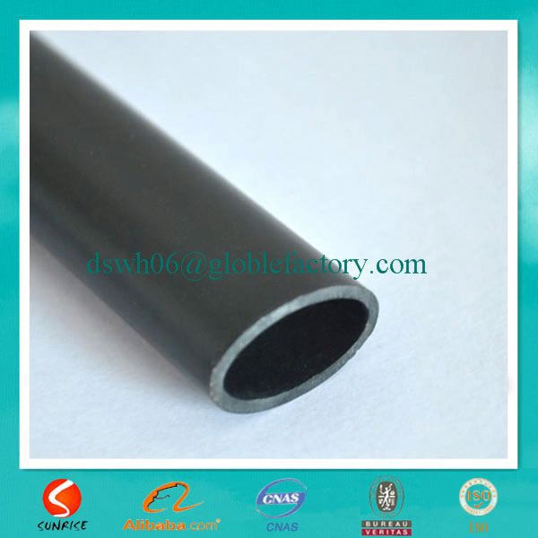Sunrise manufacturer small size black welded oval iron pipe for Furniture,curtain