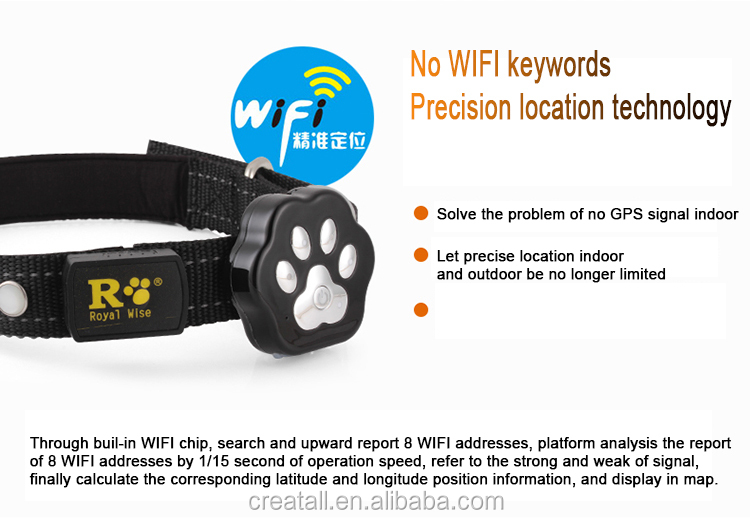 OEM pet gps tracker for dog great price with Mic,Wi-Fi,Bluetooth,GPS