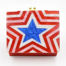 Stylish With Colorful Stars Design Women Purse Fashion Cosmetic Clutch Bag