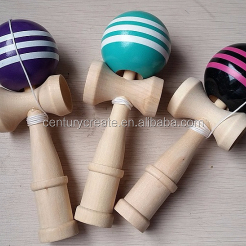 customized environmentally friendly wooden kendama toys